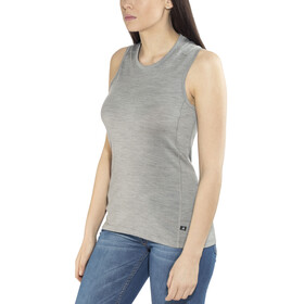 Odlo Natural 100% Merino Warm Crew Neck Singlet Women grey melange-black